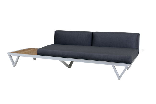 Picture of BONDI BELLE SOFA 2-SEATER SECTIONAL WITH TABLE (TEAK)