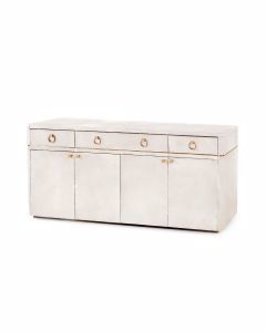 Picture of ANDRE-3-DRAWER-&-4-DOOR-CABINET-WHITE